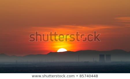 nuclear power plant in philippsburg at sunset germany stock photo © fisfra