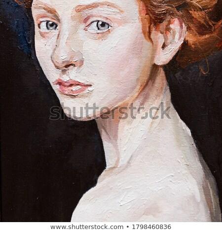 девочек классический портрет студию девушки модель Сток-фото © DedMorozz