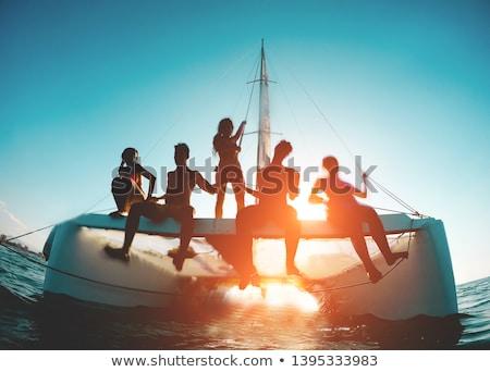 катамаран красочный небе воды морем Сток-фото © gant