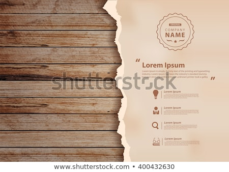 Old Vintage Poster On Wooden Background Stock Photo