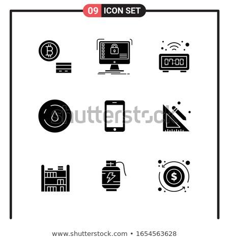 Universal glyphs 9. Web icons Stock photo © tele52
