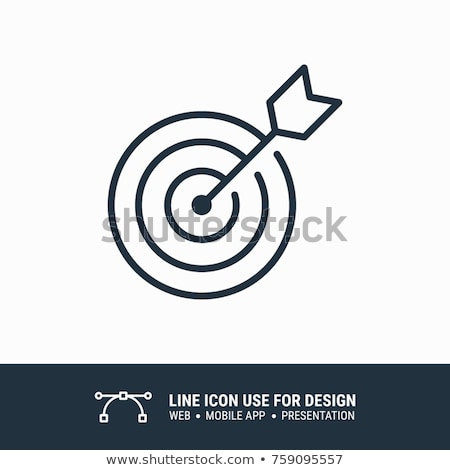 dart target icon stock photo © digitalstorm