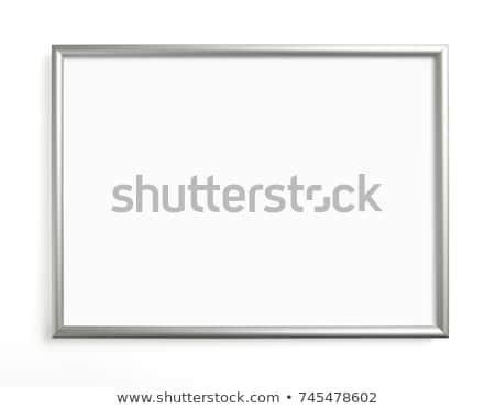 old metal frame isolated on white background stock photo © zeffss