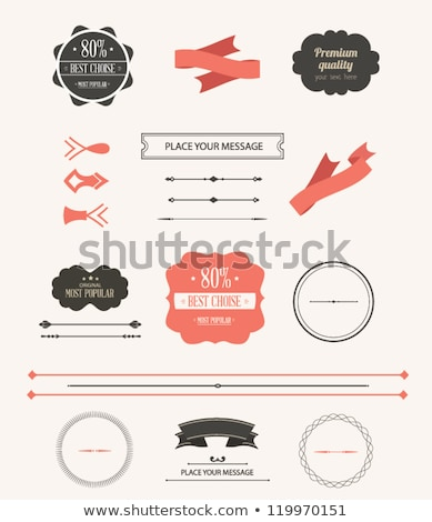 vector old red retro vintage elements stock photo © orson