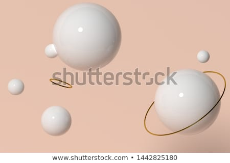 3d render abstract blue purple bubble on gray backdrop Stock photo © Melvin07