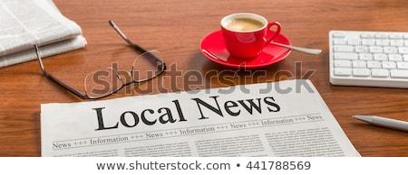 yerel · haber · gazete · rulo · beyaz - stok fotoğraf © devon