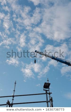 крана облачный день большой бизнеса небе Сток-фото © gant