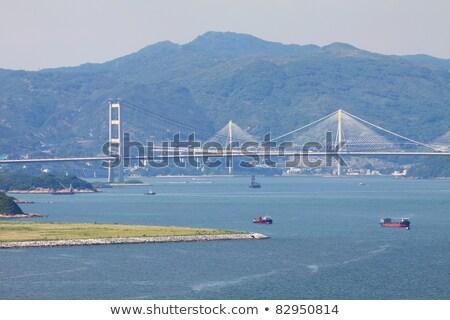 Ting Kau Bridge at day time in Hong Kong Stock photo © kawing921