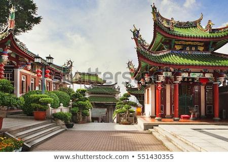 hagyományos · kapu · bejárat · templom · égbolt · víz - stock fotó © kawing921