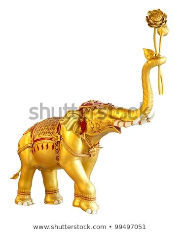 carved thai elephant stock photo © witthaya