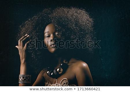 Frau Gesicht Porträt schönen weiblichen Stock foto © Anna_Om