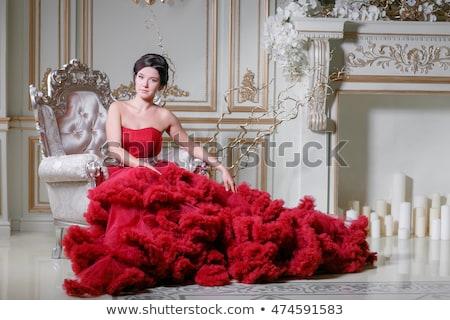 роскошь кресло кадры королевский люстра Сток-фото © Victoria_Andreas