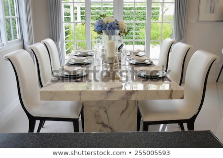 Table dîner modernes restaurant fête Photo stock © photovibes