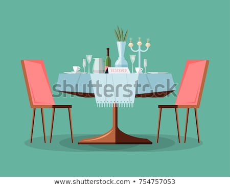 Modern restaurant dinner table Stock photo © photovibes