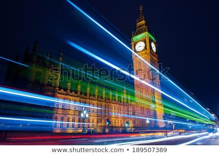 Big Ben rivier theems landschap brug nacht Stockfoto © vichie81