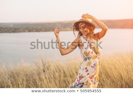 beautiful girl in a light summer dress Stock photo © grafvision