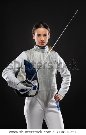 espada · blanco · velocidad · ganador · masculina · medalla - foto stock © pedromonteiro