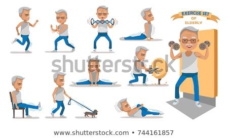 egészalakos · fitnessz · férfi · park · nyár · idő - stock fotó © dash