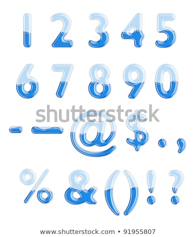 ABC series - Water Liquid Numbers - Number 3 -  Stock photo © Jul-Ja