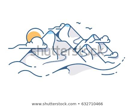мягкой снега мнение гор небе спортивных Сток-фото © Armisael