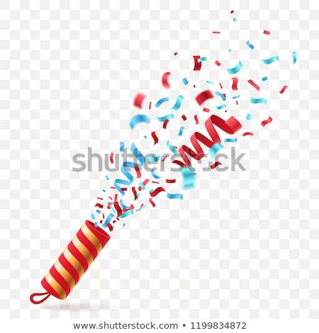 Explosie vreugde gelukkig haren Rood succes Stockfoto © photography33