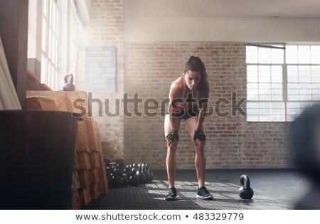 corredor · mujer · aislado · ejecutando · encajar · fitness - foto stock © stockyimages