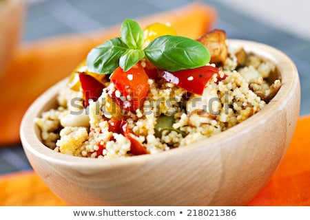 fresh couscous salad with vegetables stock photo © m-studio