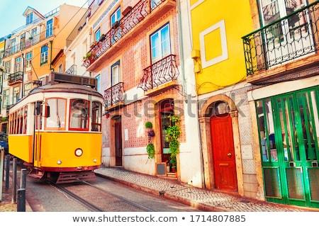 Lisszabon panorámakép kilátás város utca templom Stock fotó © ajn