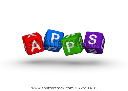 Apps Cube of Application Software Tiles  Stock photo © iqoncept
