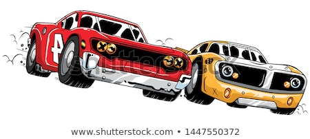 Cartoon · coches · colorido · aislado · blanco - foto stock © lkeskinen
