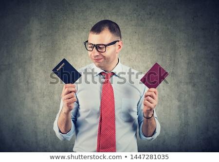 pasaporte · dinero · aislado · blanco · papel · signo - foto stock © broker