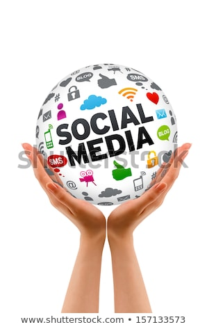 Hands holding a Social Media Sphere Stock photo © kbuntu