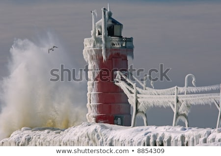 南 灯台 鴎 海浜砂 湖 ストックフォト © Kenneth_Keifer
