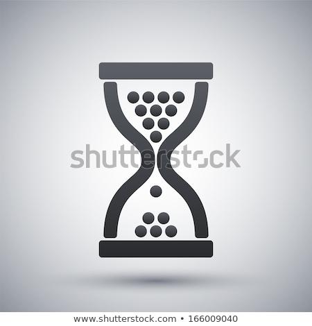 Stok fotoğraf: Soyut · parlak · kum · saati · ikon · iş · Internet