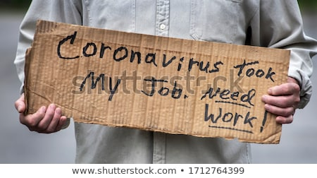 Man Holding an Unemployment Sign Stock photo © piedmontphoto