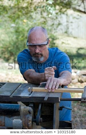 Determinado poder ferramenta construção trabalhador Foto stock © photography33