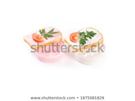 toast with tomato and fish caviar cream stock photo © shutswis