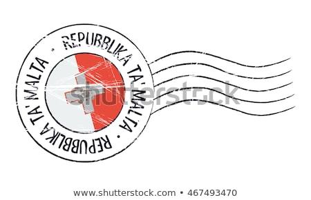 почты Мальта изображение штампа карта флаг Сток-фото © perysty
