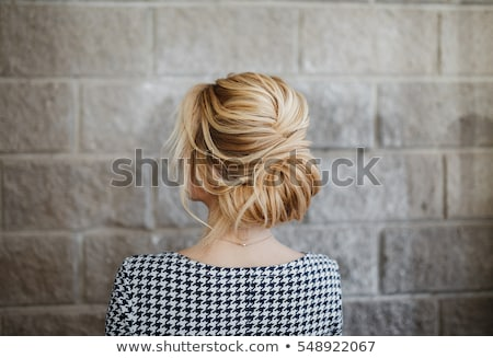 Fashion blond woman lady with coiffure hairstyle Stock photo © Victoria_Andreas