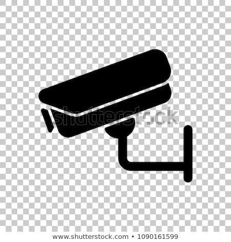 Przezroczysty cctv inwigilacja techniczne rysunek Zdjęcia stock © Spectral