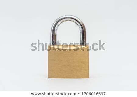 Unlocked lock on white background  Stock photo © inxti