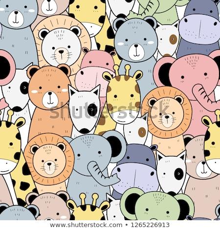 animal cartoon doodle stock photo © dagadu