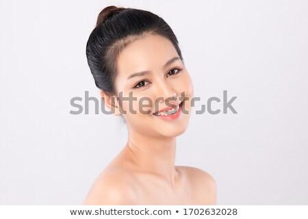 retrato · cute · chino · nina · jóvenes · bastante - foto stock © carlodapino