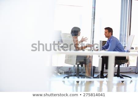 businessman gesturing with copy space Stock photo © ra2studio