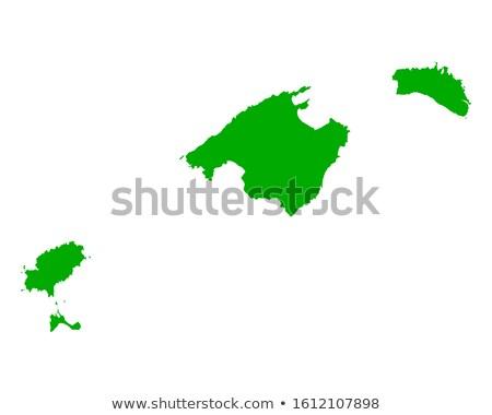 Map of Balearic Islands (Spain) Stock photo © Schwabenblitz