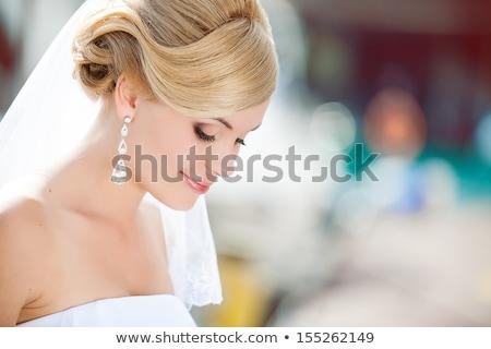 Belo noiva retrato mulher feliz Foto stock © rosipro
