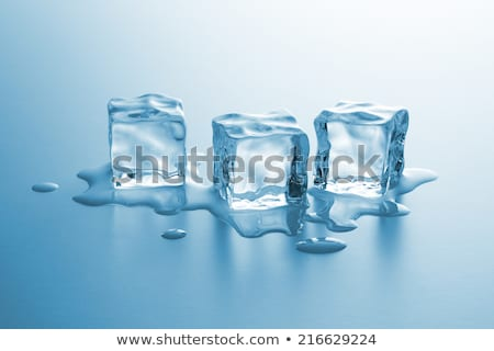 Three melting ice cubes stock photo © karandaev