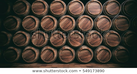 old stacked beer barrels stock photo © bigjohn36