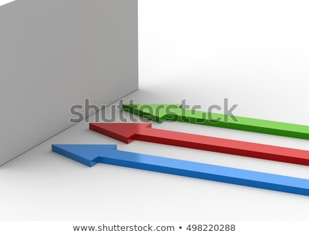 3d render of RGB markers on white background Stock photo © shutswis