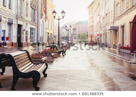 Downtown street in spring Stock photo © inarts